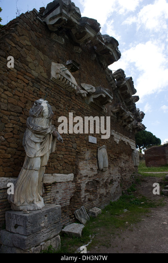 ancient, archeologic, Europa, Italy, Latium, Lazio, Ostia antica, outdoor, Republicans*, Rome, stores* day, travel - Stock Image