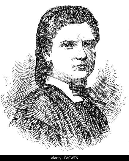 Aglaia von Enderes, 1836-1883, an Austrian writer, - Stock-Bilder