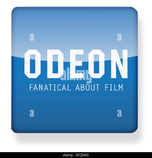 Odeon cinema logo as an app icon. Clipping path included. - Stock Image