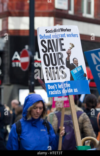 NHS Protest in London - Stock Image