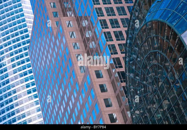 New York glass buildings - Stock Image