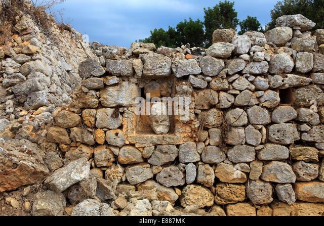 Taula de Torralba d'en Salort prehistoric site, Menorca, Balearic Islands, Spain - Stock Image