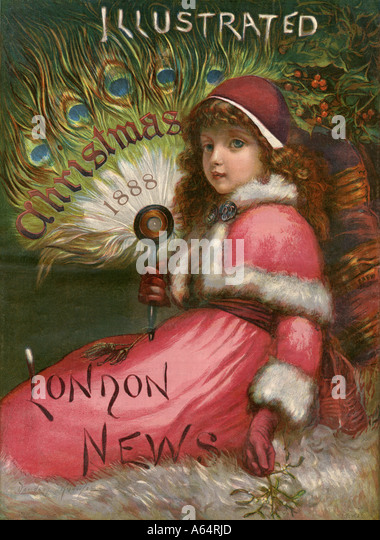 Christmas edition front page of the Illustrated London News 1888 - Stock Image