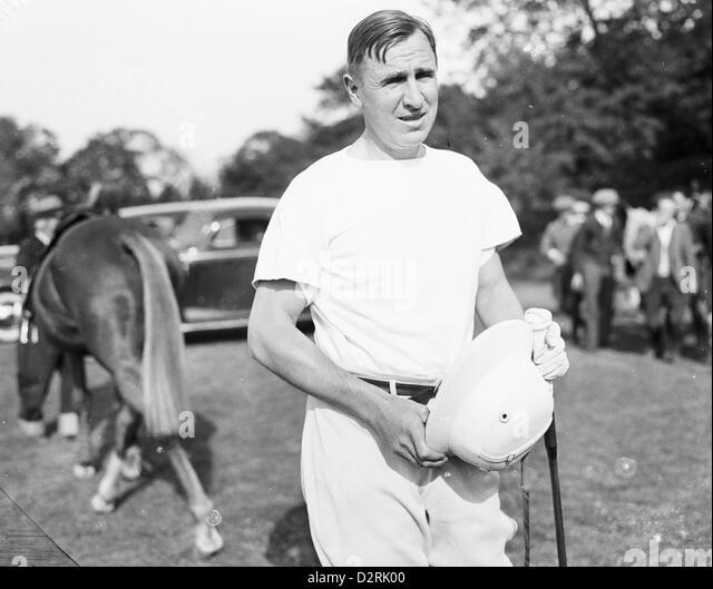 Polo Player Thomas Hitchcock Jr  starts his 28th polo season, 1939 - Stock Image