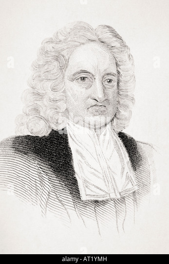 Edmund Halley 1656 1742 English astronomer and mathematician - Stock Image