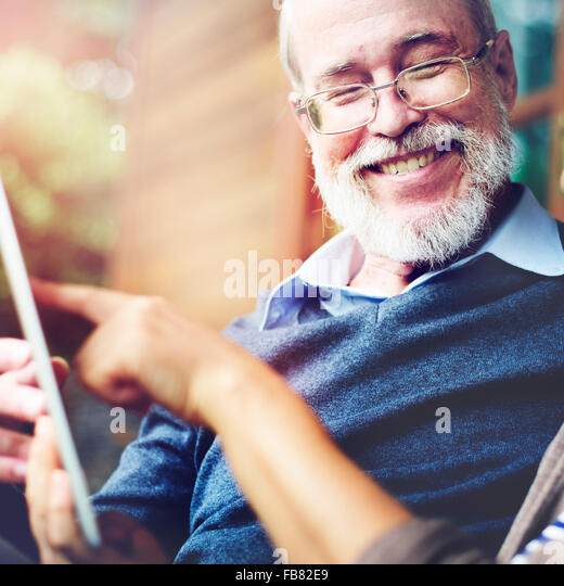 Couple Adult Happiness Laughing Holiday Concept - Stock Image
