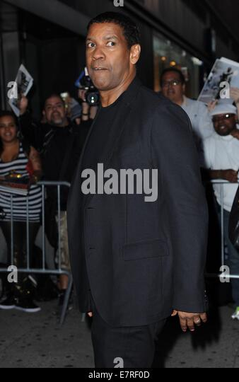 New York, NY, USA. 22nd Sep, 2014. Denzel Washington at arrivals for The Equalizer  Screening, AMC Lincoln Square - Stock-Bilder