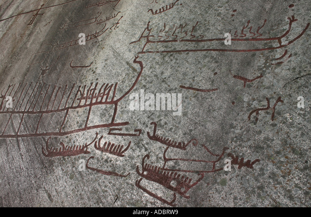 Viking rock carving stock photos