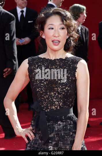MAVRIXPHOTO.COM Sanda Oh at the 60th Primetime Emmy Awards held at the Nokia Theater in Los Angeles, California, - Stock-Bilder
