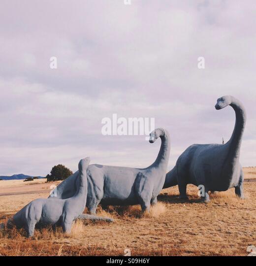 Dinosaur Family - Stock Image