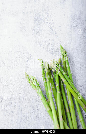 A bunch of green Fresh Asparagus - Stock Image