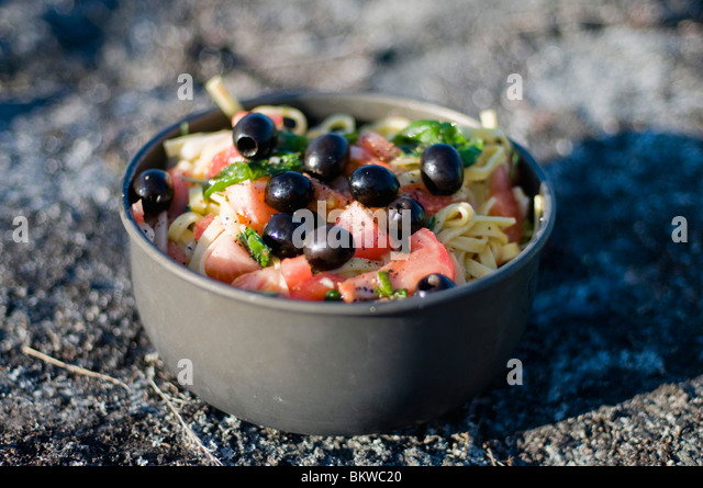 Bowl with food - Stock Image