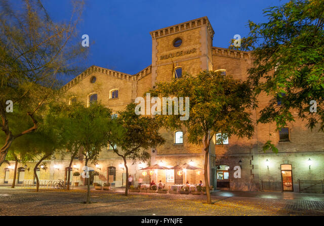 Palau de Mar,  port architecture s.XIX, Barcelona, Catalonia, Spain - Stock Image