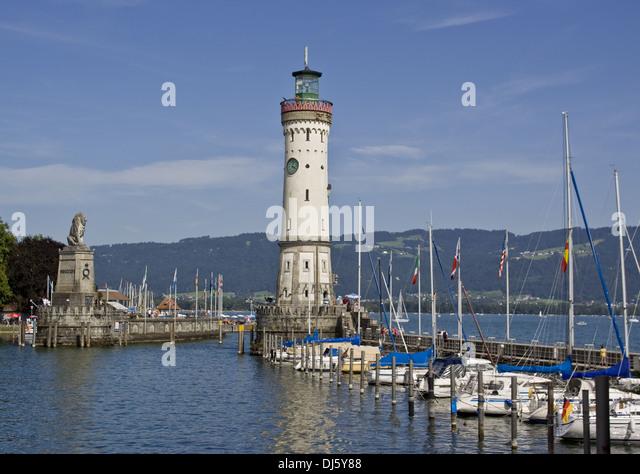 Lindau Lighthouse - Stock-Bilder