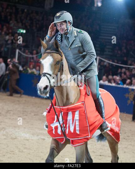 London UK. 20th December, 2015. The Longines FEI World Cup. Emanuele Gaudiano (ITA) riding Admara @Julie Priestley/AlamyLiveNews - Stock Image