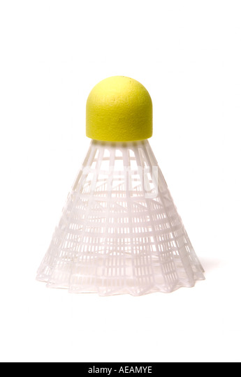 Badminton shuttle cock - Stock Image