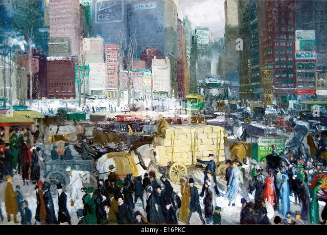 New York by George Bellows, 1911 - Stock Image