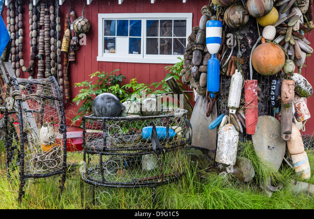 The Norwegian fishing town of Petersburg, Southeast Alaska, USA - Stock Image