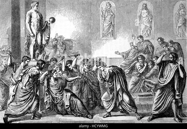 the assassination of gaius julius caesar The assassination of julius caesar was the result of a conspiracy done with many roman senators who also happened to be members of the roman branch of the hidden ones, a precursor group to the assassin brotherhood.