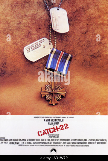 CATCH-22 poster for 1970 Paramount film with Alan Arkin - Stock Image