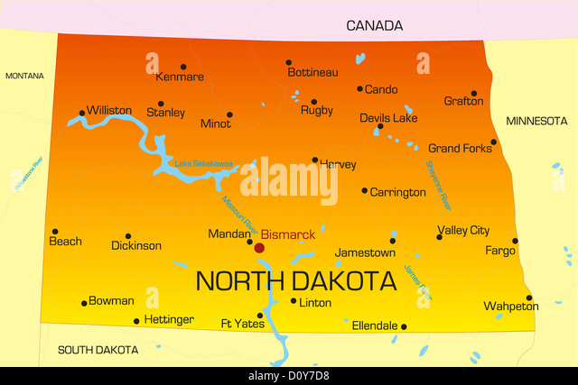 Map Of North Dakota Stock Photos Amp Map Of North Dakota