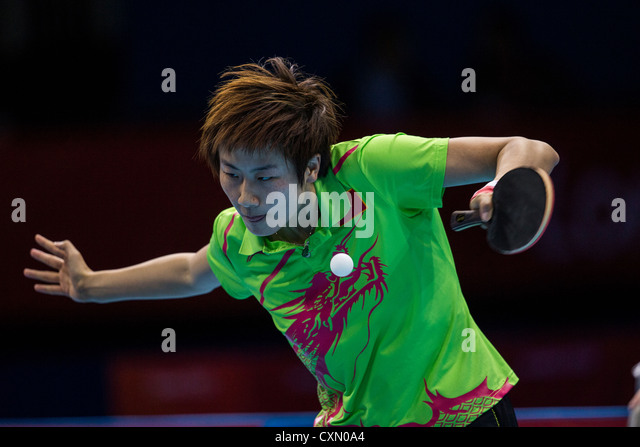 Ding Ning (CHN) wins the women's table tennis silver medal in Olympic Summer Games, London 2012 - Stock Image
