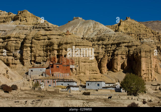 Dhawalagiri Nepal  city photos : Nepal Dhawalagiri Zone Mustang District Stock Photos & Nepal ...