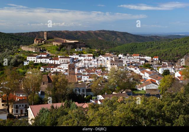 Almonaster la Real, Parque Natural Sierra de Aracena y picos de Aroche, Huelva, Andalucia, Spain, Europe - Stock Image