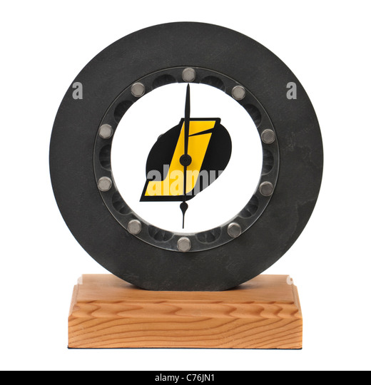 Jordan F1 Racing Team brake disc novelty clock (2002) - Stock Image