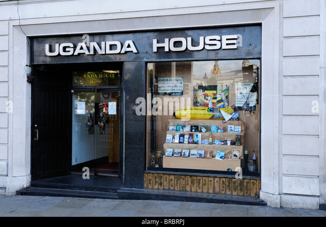 Uganda House, Uganda High Commission, Trafalgar Square, London, England, UK - Stock Image