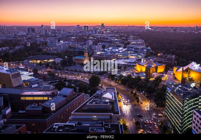 Skyline Berlin, Germany - Stock Image