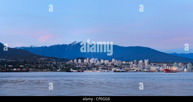 North Vancouver skyline Mt. Seymour, Canada - Stock Image