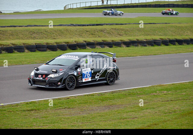 Mission Motor Sport Ty Croes racing Anglesey, Curcuit ,North Wales, Uk,. Race of Remembrance. speed. honda crv - Stock Image