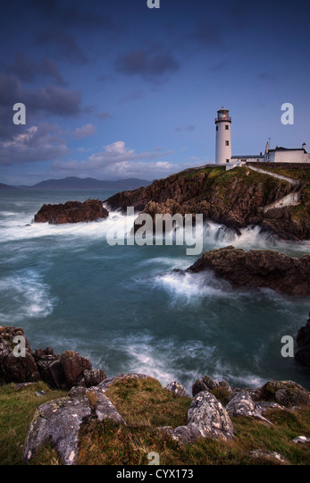 Night shot of Fanad lighthouse on the fanad peninsula,  County Donegal. - Stock-Bilder