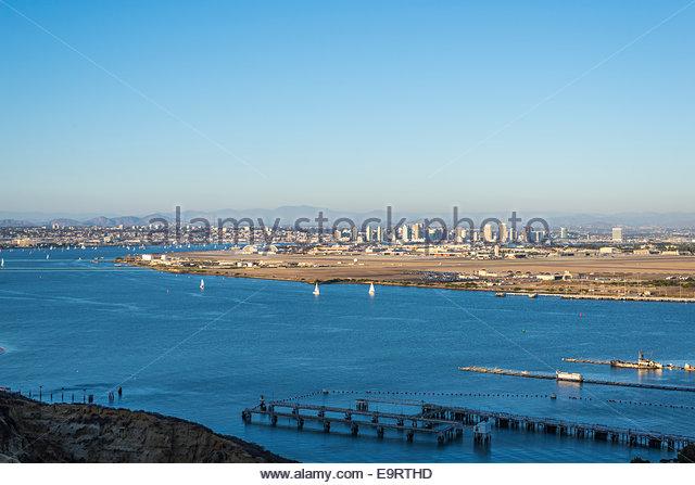 View of San Diego Harbor. San Diego, California,  United States. - Stock Image