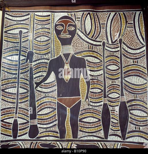 Wuyal ancestral being Aboriginal painting Australia - Stock-Bilder