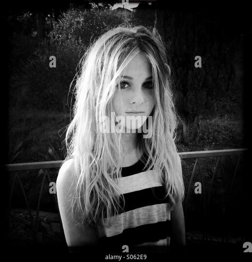 Portrait of a teenage girl - Stock Image