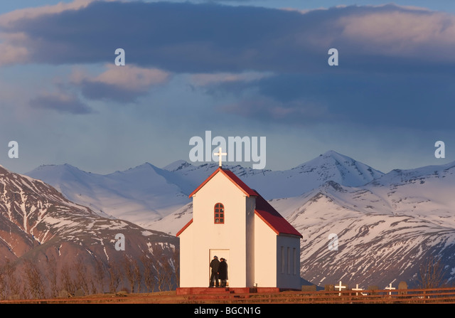Brunnholskirkj Church, nr Hofn, S. Iceland - Stock-Bilder