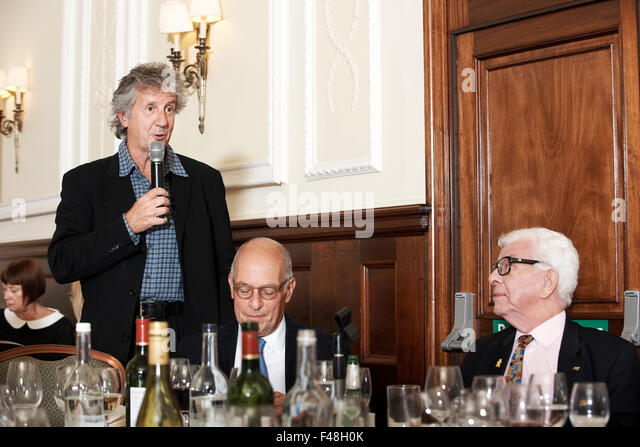 Blake Morrison at The Oldie Literary Lunch 13-10-15, with Loyd Grossman & Barry Cryer - Stock Image