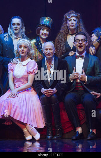 London, UK. 15 September 2015. Richard O'Brien, centre, with the cast of the musical at a photocall. The Rocky - Stock Image
