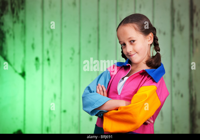 Cheeky girl posing - Stock Image