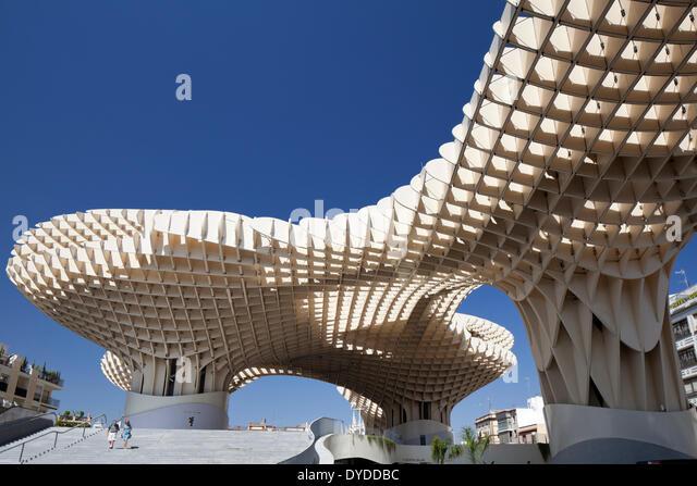 Metropol Parasol at the Plaza de la Encarnacion in Seville. - Stock Image