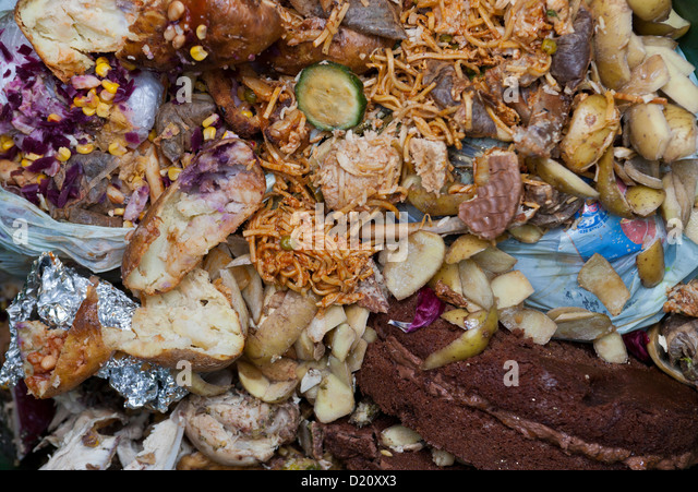 Food Waste for Recycling. - Stock Image