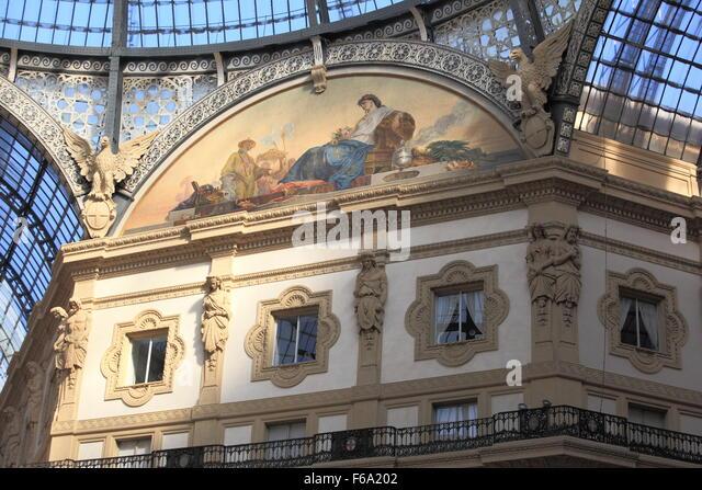 Galleria Vittorio Emanuele II - Stock Image