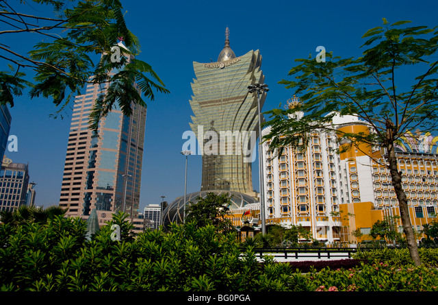 Gran Lisboa casino, Macau, China, Asia - Stock Image