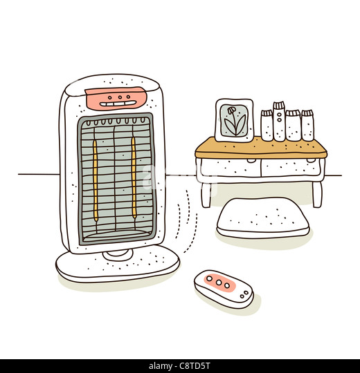Illustration of air cooler - Stock Image