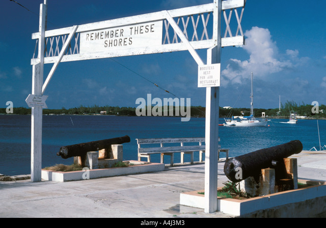 Bahamas Abaco Green Turtle Cay 'Remember These Shores - Stock Image