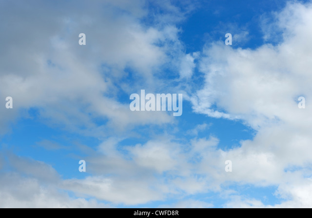 Blue sky and white clouds - Stock Image