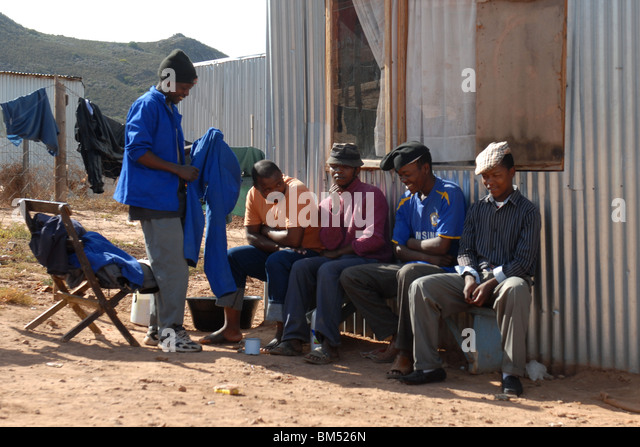 People, living in the township of Township of Nquebele near Robertson, South Africa - Stock-Bilder