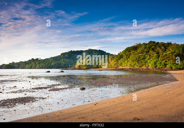 Early morning at Coiba island national park, Pacific coast, Veraguas province, Republic of Panama. - Stock-Bilder